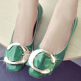 Ericdress Bright Color Metal Decorated Flats