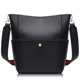 Ericdress Vintage Color Block Bucket Crossbody Bag