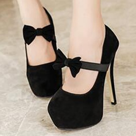 Ericdress Charming Bowtie Suede Platform Prom Shoes
