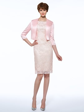 Ericdress Sheath Lace Short Mother Of The Bride Dress With Jacket