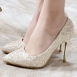 Ericdress Shining Sequins Point Toe Pumps