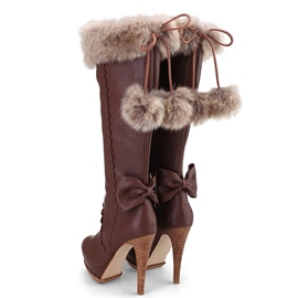Ericdress Tassels&bowknot Decorated Knee High Boots