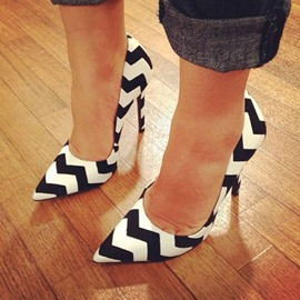 Ericdress Zebra Print Point Toe Pumps