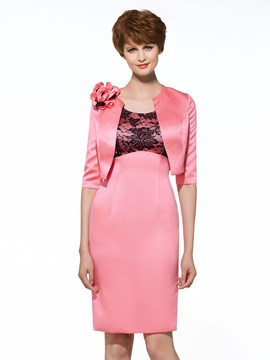 Ericdress Scoop Lace Knee Length Mother Of The Bride Dress With Jacket