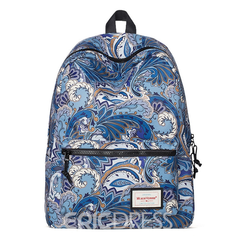Ericdress Exotic Floral Print Backpack