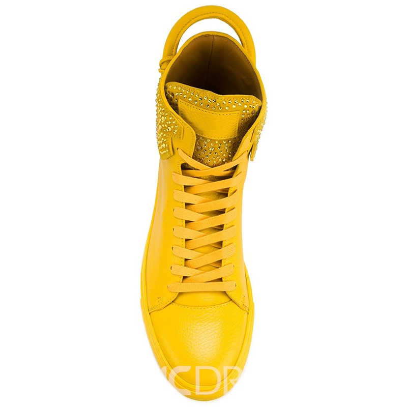 Ericdress Western Mid-Cut Upper Lace-Up Canvas Men's Sneakers