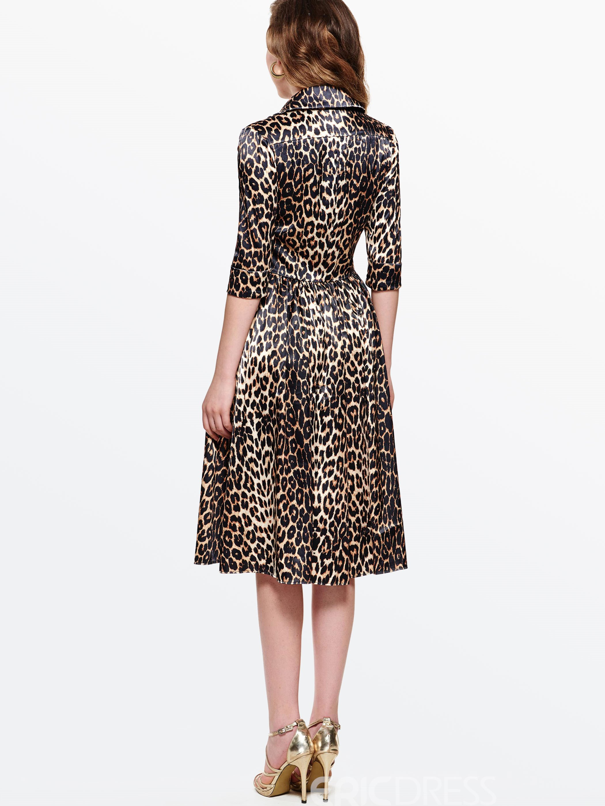 Ericdress Leopard Print Expansion Casual Dress