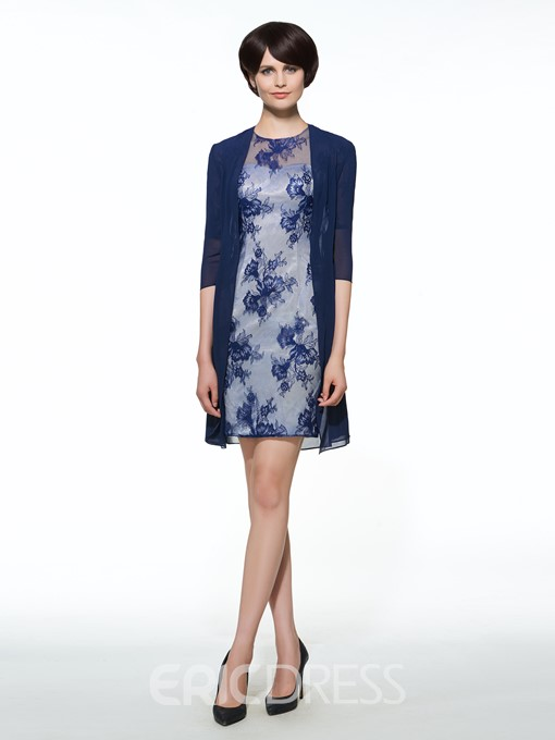 Ericdress Beautiful Sheath Short Mother Of The Bride Dress With Jacket
