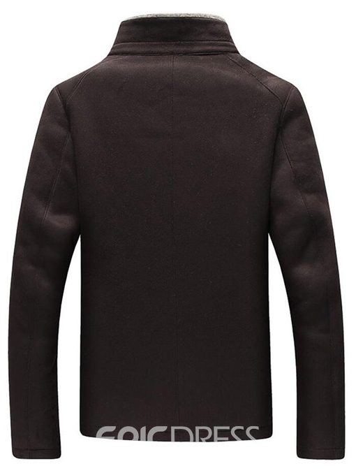 Ericdress Stand Collar Thicken with Velvet Warm Men's Winter Coat