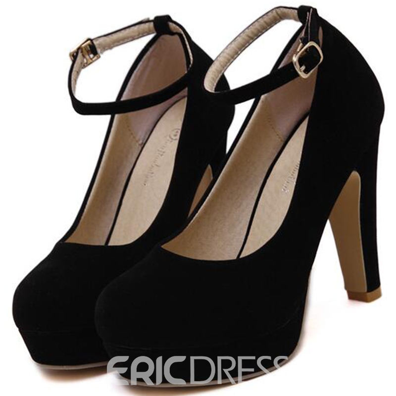 Ericdress Suede Platform Ankle Strap Prom Shoes