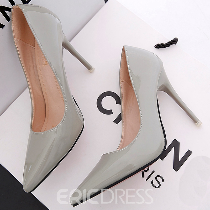Ericdress Pointed Toe Slip-On Stiletto Pumps