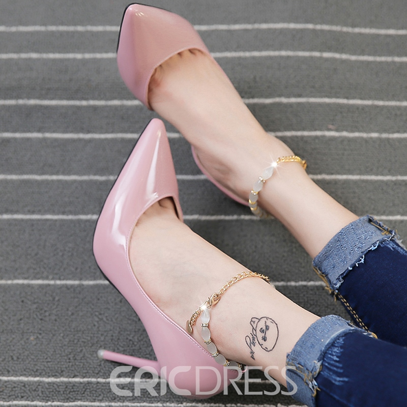 Ericdress Pointed Toe Chain Ankle Strap Prom Shoes