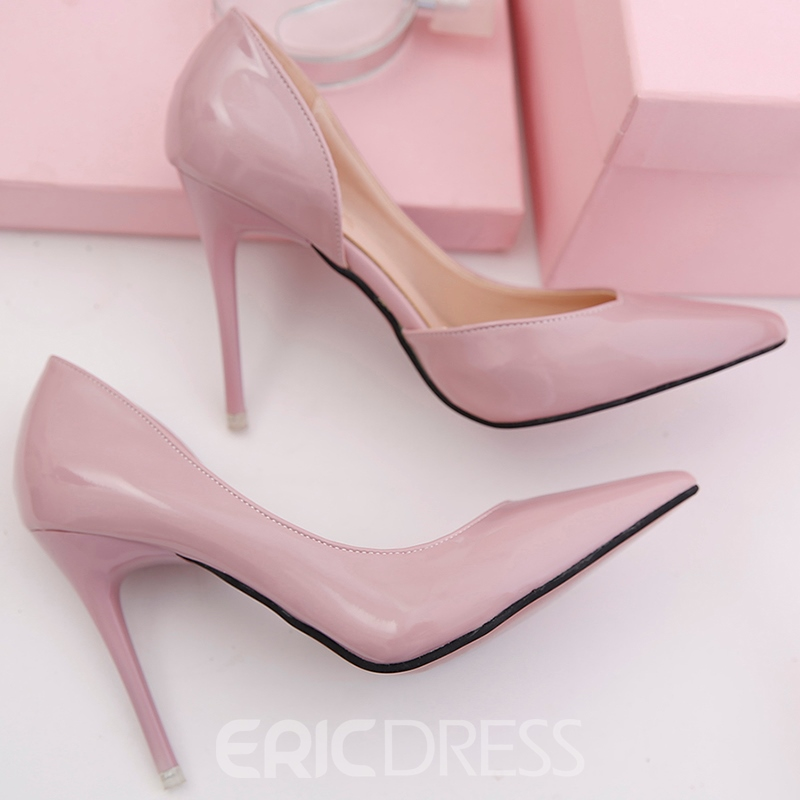 Ericdress Patent Leather Point Toe Pumps