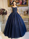 Ericdress Ball Cap Sleeves Appliques Quinceanera Dress With Beading Pearls