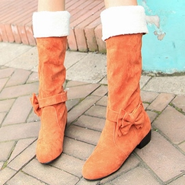 Ericdress Pretty Bowtie Knee High Boots