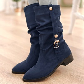Ericdress Cozy Suede Flat Boots