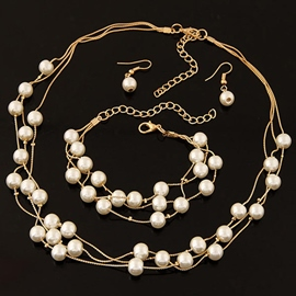 Ericdress Elegant Multilayer Pearl Jewelry Set