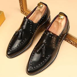 Ericdress Rivets&tassels Point Toe Men's Oxfords