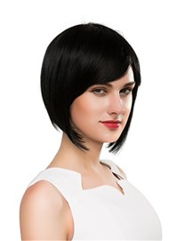 Ericdress Pretty Medium Straight Capless Human Hair Wig 10 Inches