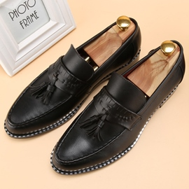 Ericdress British Solid Color Tassels Men's Brogues