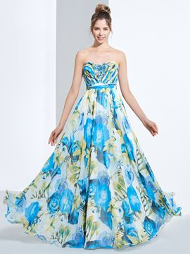 Ericdress A-Line Sweetheart Sequins Floor-Length Prom Dress