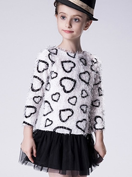 Ericdress Knitting Heart-shaped Back Opening Girls Outerwears
