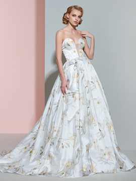 Ericdress Beautiful Sweetheart Printed Wedding Dress