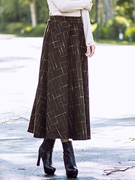 Ericdress Vintage Plaid Usual Skirt