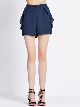 Ericdress Solid Color Casual Shorts