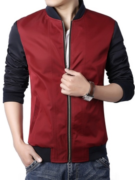 Ericdress Color Block Slim Men's Jacket