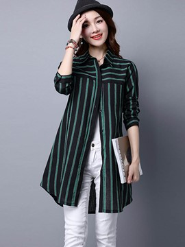 Ericdress Stripped Slim Casual Blouse