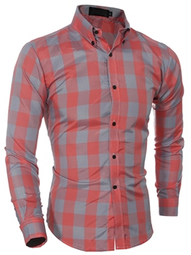 Ericdress Casual Long Sleeve Plaid Men's Shirt
