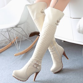 Ericdress Top Quality Buckles Knee High Boots