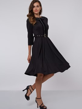 Ericdress Western Long Sleeves Mid-Calf A Line Dress
