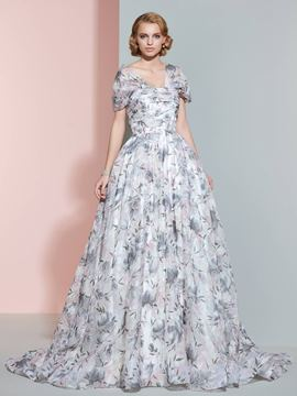 Ericdress Beautiful Cap Sleeves A Line Printed Wedding Dress