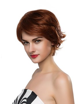Ericdress Fluffy Short Wavy Capless Human Hair Wig 10 Inches