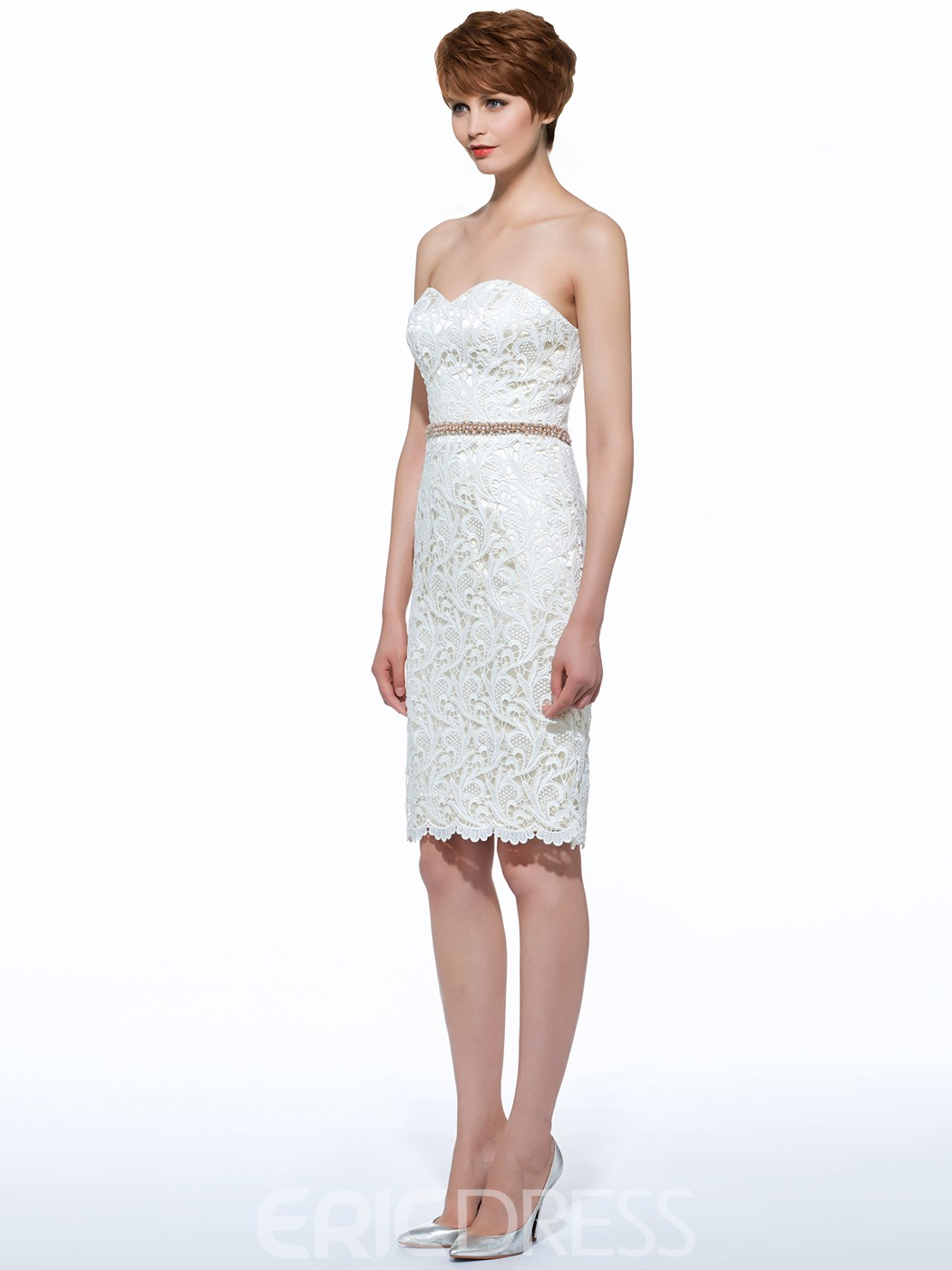 Ericdress Beautiful Sweetheart Sheath Knee Length Mother Of The Bride Dress With Jacket