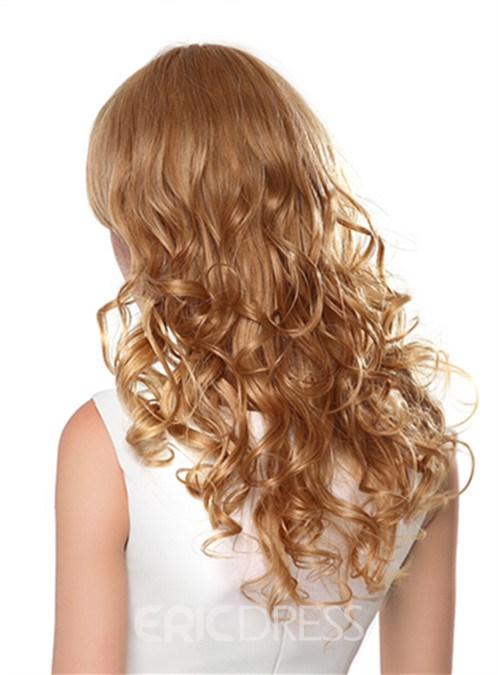 Ericdress Long Attractive Wavy Capless Human Hair Wig 22 Inches