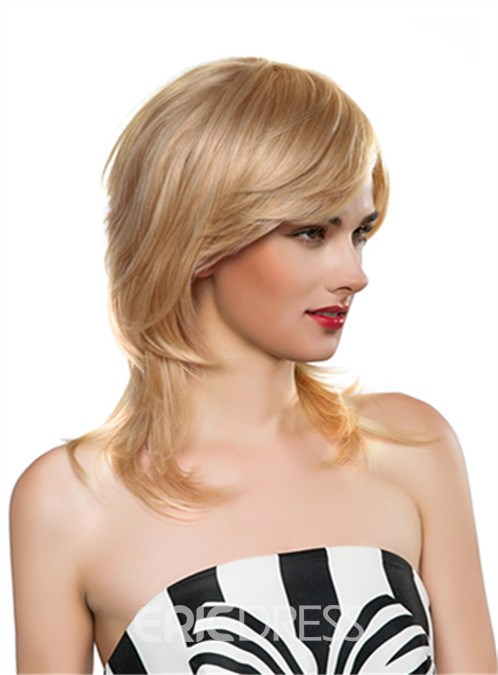 Ericdress Beautiful Long Wavy Capless Human Hair Wig 18 Inches