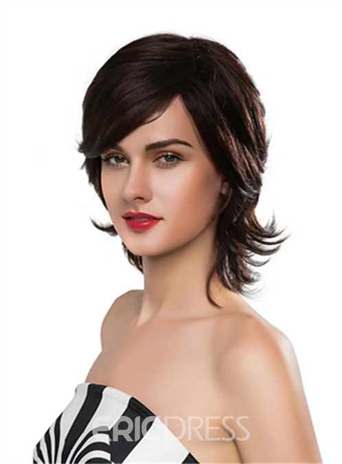Ericdress Charming Medium Wavy Capless Human Hair Wig 14 Inches