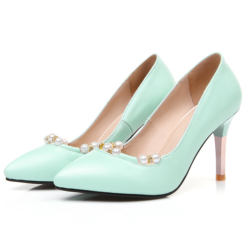 Ericdress Graceful Pearl Point Toe Pumps