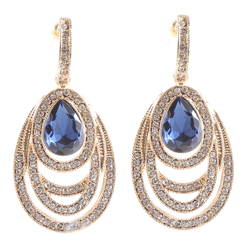 Ericdress Sapphire & Rhinestone Design Earrings