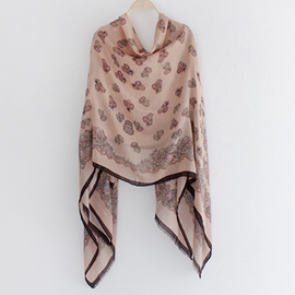 Ericdress Multipurpose Floral Print Cashmere Scarf