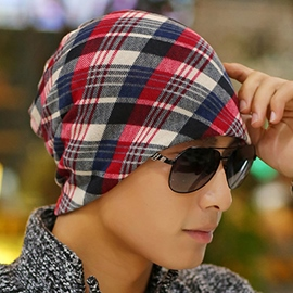 Ericdress Trendy Colorful Grid Men's Hat