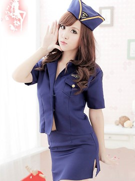 Ericdress Short Sleeve Sexy Police Cosplay Costume