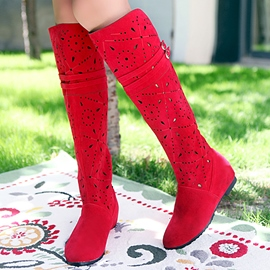 Ericdress Pretty Girl Cut Out Knee High Boots