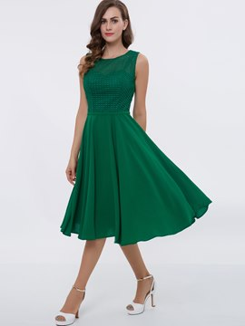 Ericdress A Line Sleeveless Knee Length Casual Dress