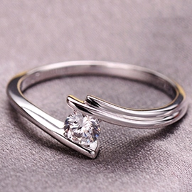 Ericdress Classic 925 Silver Sheery Diamond Ring