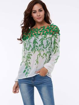 Ericdress Loose Printed Hollow Blouse