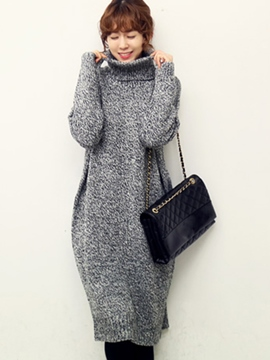 Ericdress Autumn Thick Long Sleeve Mid-Calf Length Sweater Dress